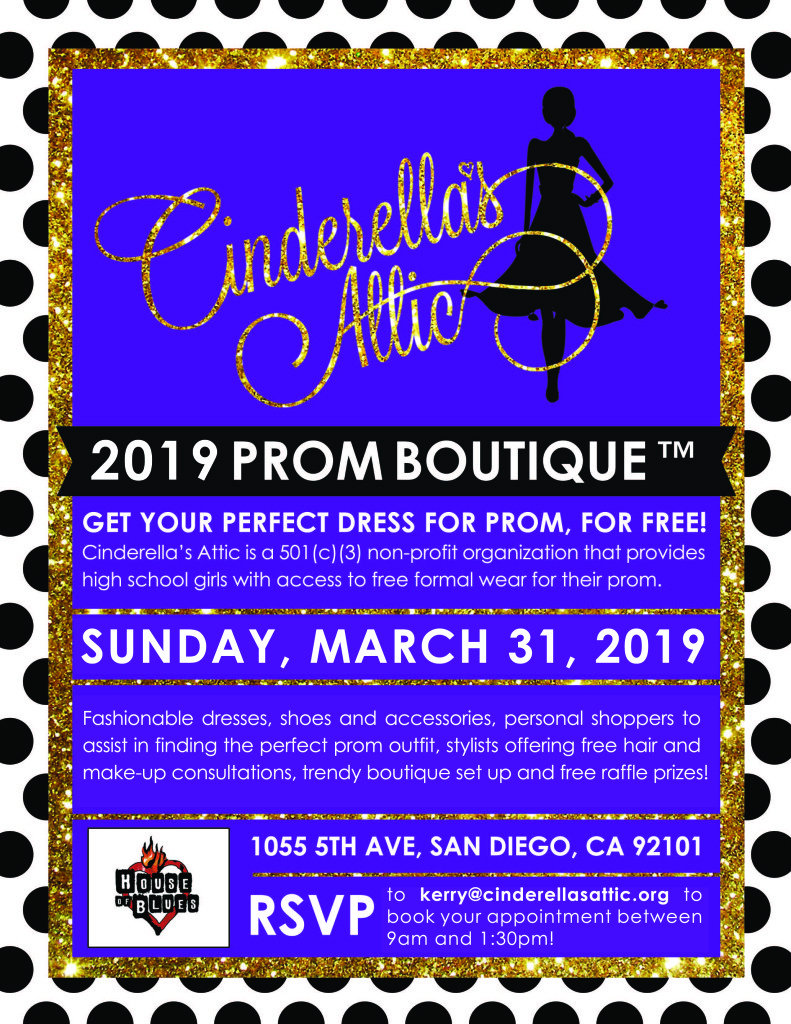 ef4daf81 14th Annual Prom Boutique – March 31st @ the House of Blues Downtown San  Diego!